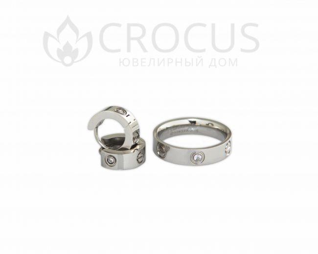 кольца и серьги Cartier Love