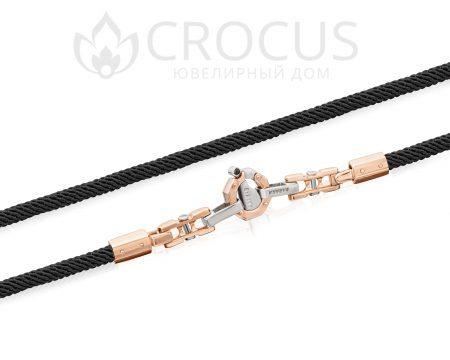 шнурок с золотой застежкой 0036