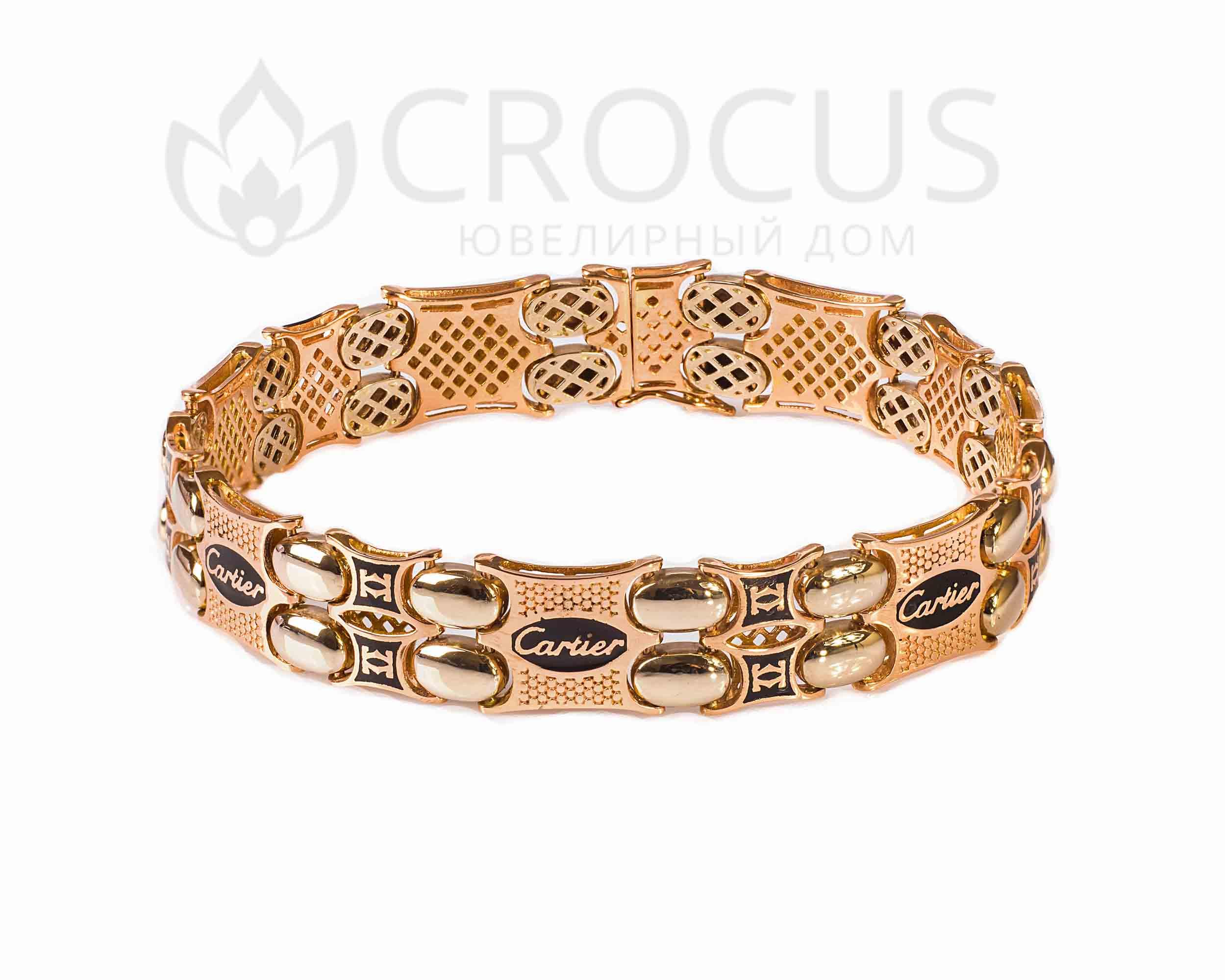 Эксклюзивный золотой браслет Cartier двойной