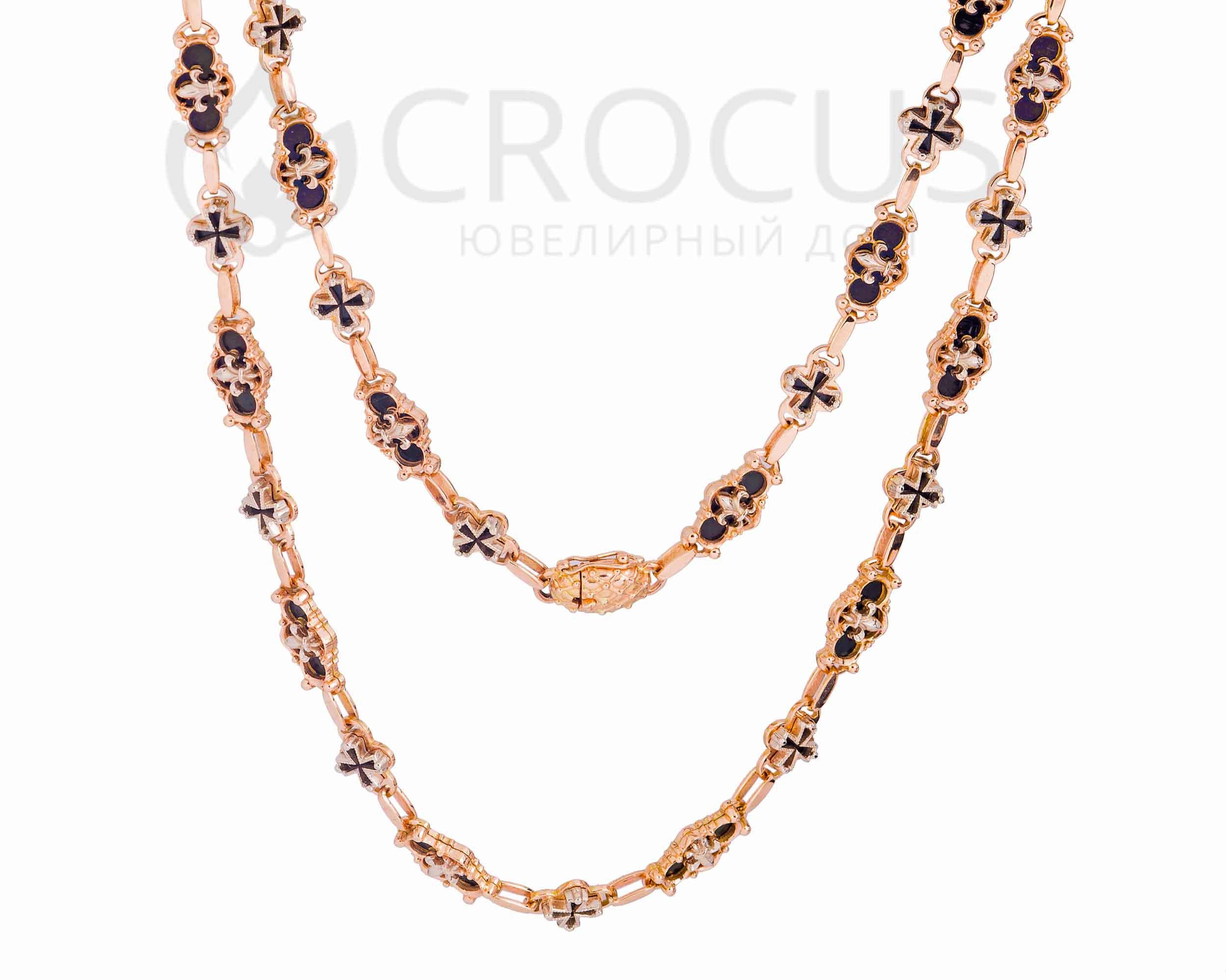 Золотая цепь - колье Faberge в Украине