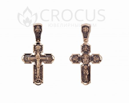Крест золотой Николай чудотворец