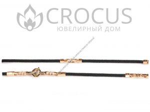 мужской золотой ювелирный Шнур Baraka 0036