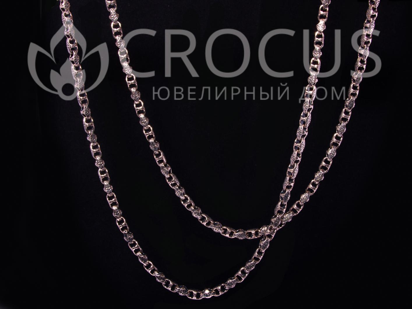 Золотая цепь Baraka 0029 черненное золото 2