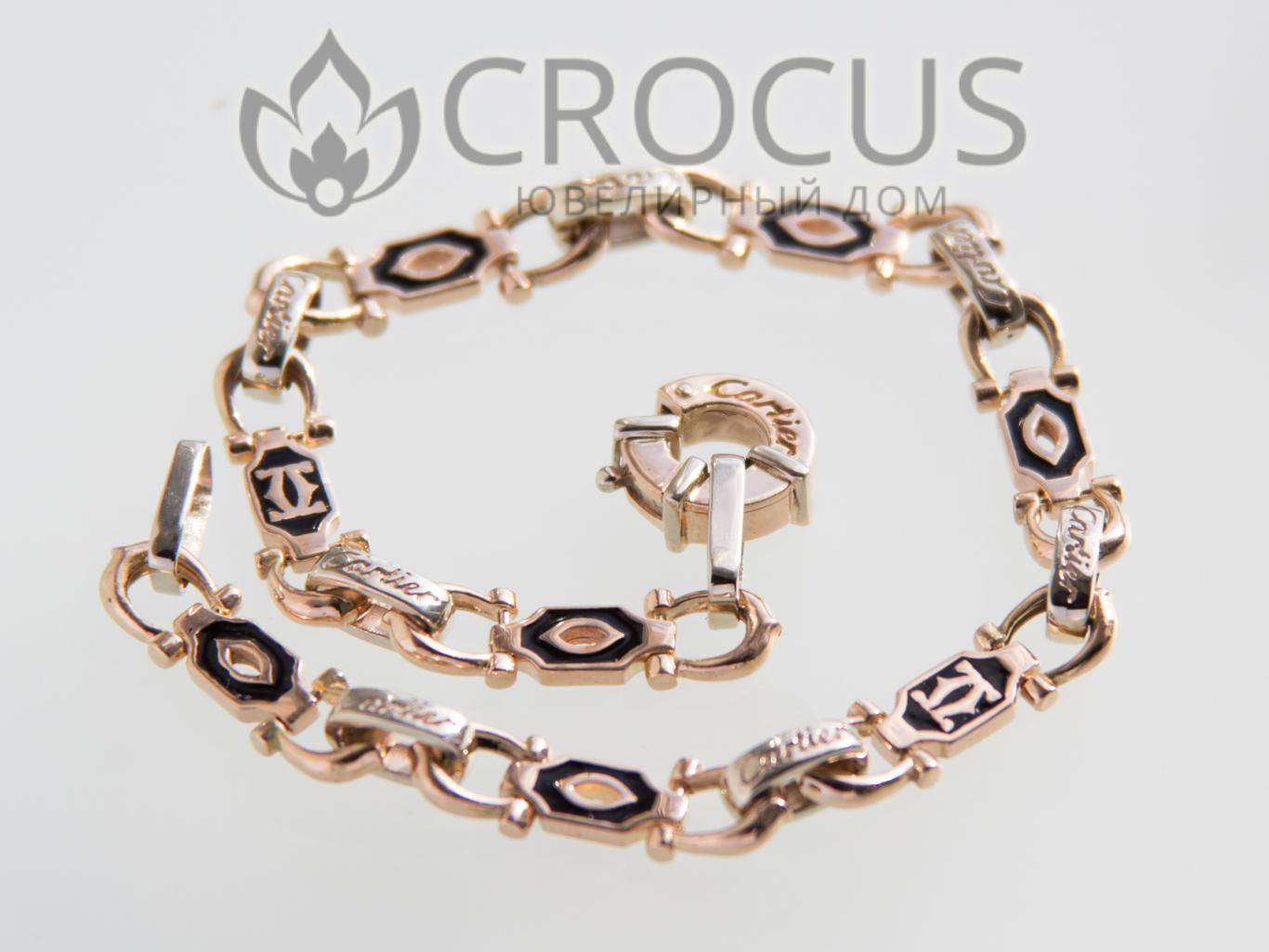 женский золотой браслет cartier