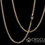 золотая цепь плетение Лисий хвост