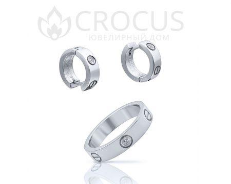 кольцо и серьги cartier love