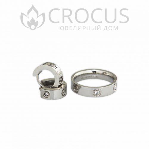 Кольцо и серьги Cartier Love (реплика)