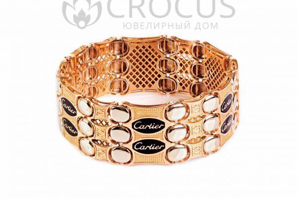 Золотой браслет Cartier (реплика) арт.0010/3