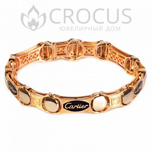 Золотой браслет Cartier (реплика) арт.0010