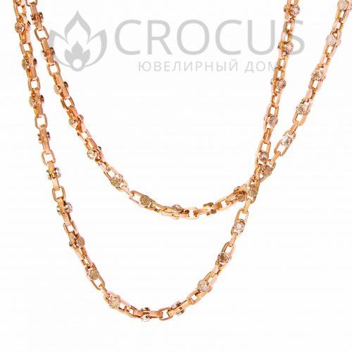 Золотая цепочка бренда Fibo арт.0009