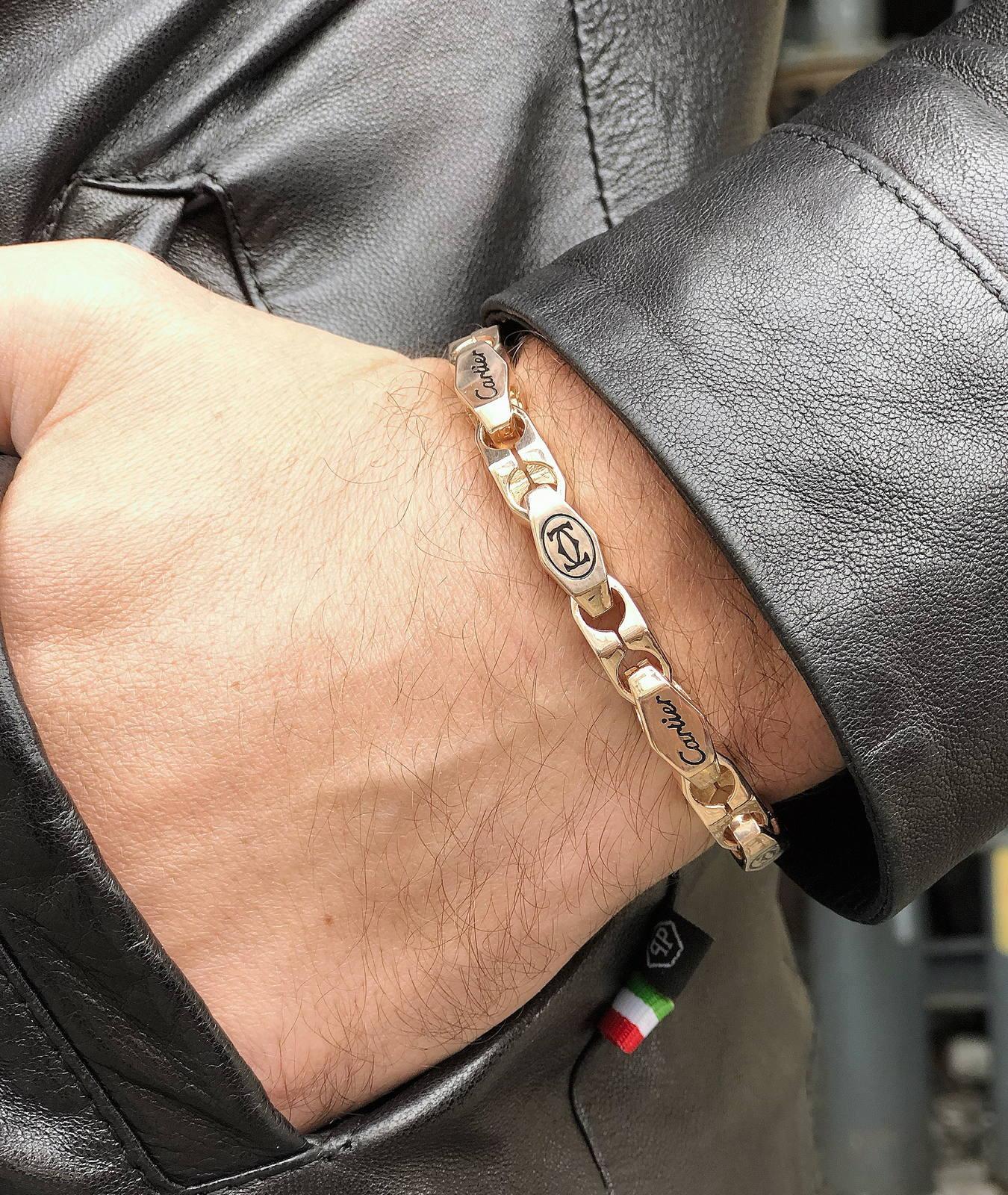мужской браслет с логотипом Cartier