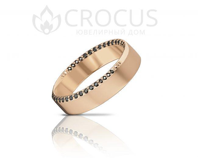 """Золотое кольцо """"американка"""" от CROCUS"""