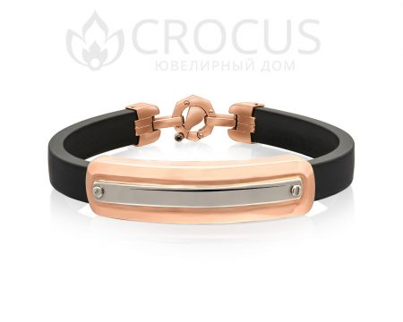 Золотой браслет под гравировку от CROCUS