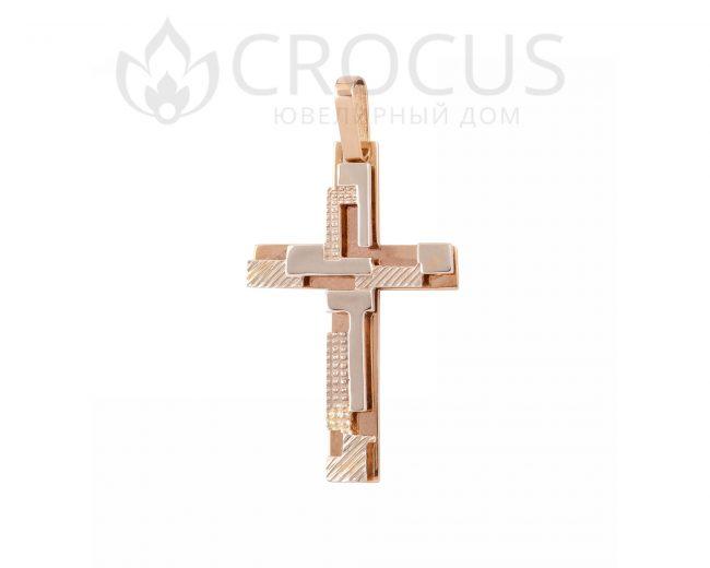 эксклюзивный золотой крестик от CROCUS 1508