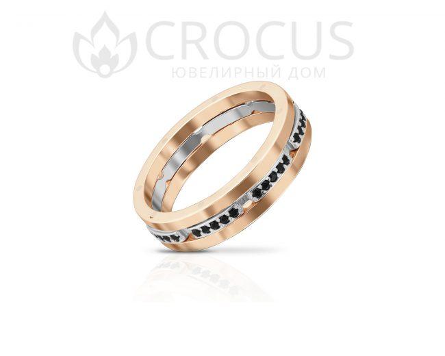 Кольцо Крокус из комбинированого золота 1016-1