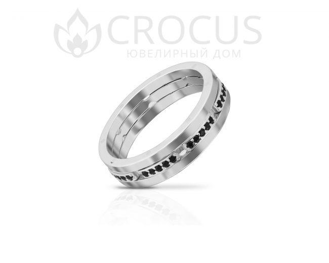 Кольцо Крокус из комбинированого золота 1016-3