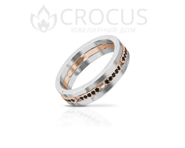 Кольцо Крокус из комбинированого золота 1016-4