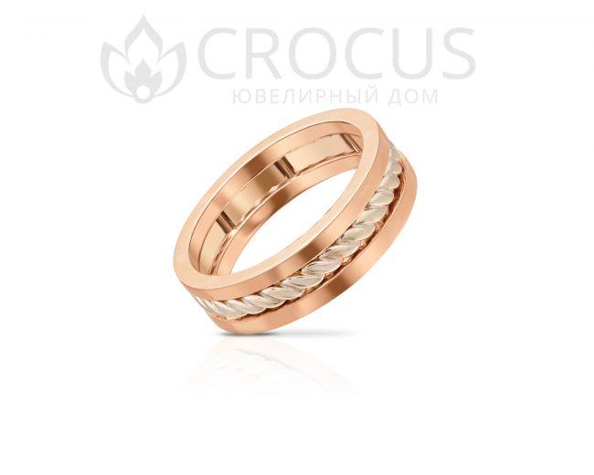 Золотое кольцо Crocus 1016-19 красное золото
