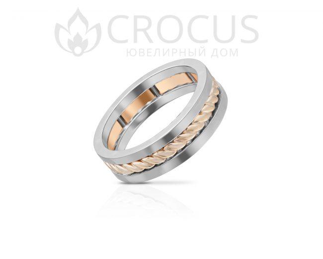 Золотое кольцо Crocus 1016-19 комбинированое