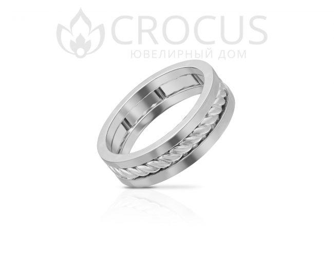 Золотое кольцо Crocus 1016-19 белое