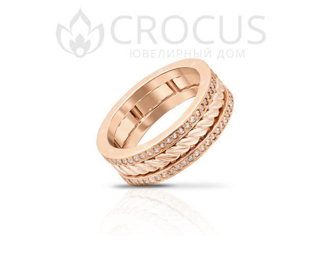 Золотое кольцо Crocus 1017-3