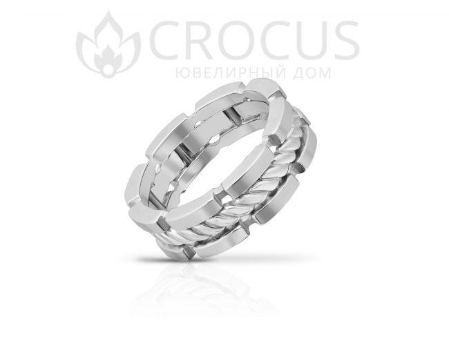 Купить золотое кольцо CROCUS 1018-3 белое золото