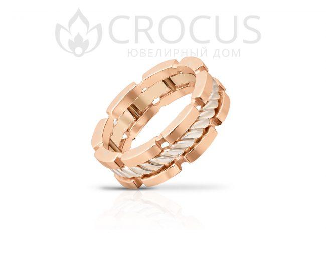 Купить золотое кольцо CROCUS 1018-4 красное золото