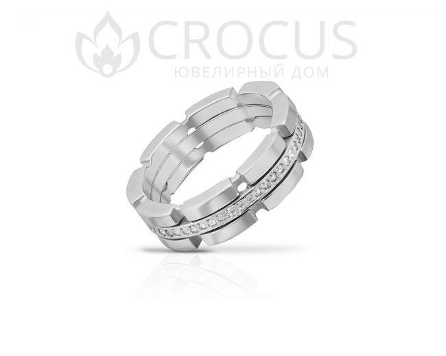 Купить золотое кольцо с фианитами CROCUS 1018-3