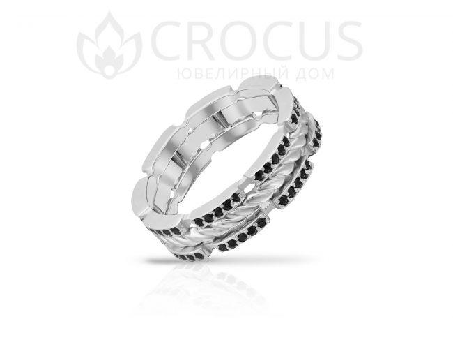 оригинальный перстень с камнями Crocus 1019/1-3