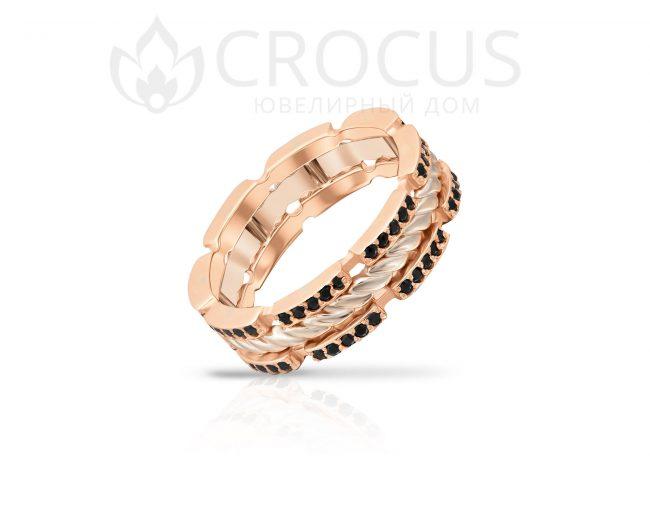 оригинальный перстень с камнями Crocus 1019/1-4