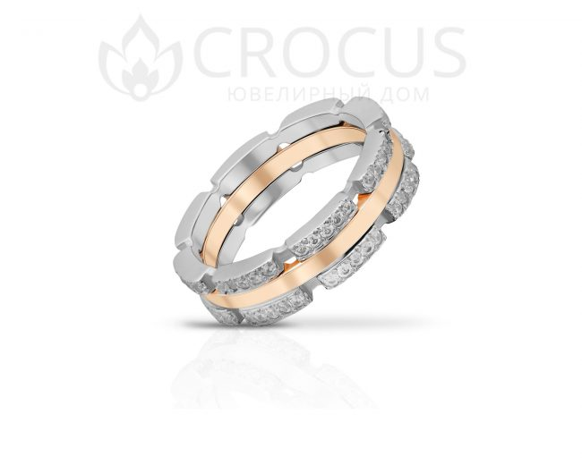 Золотой перстень CROCUS 1019-1