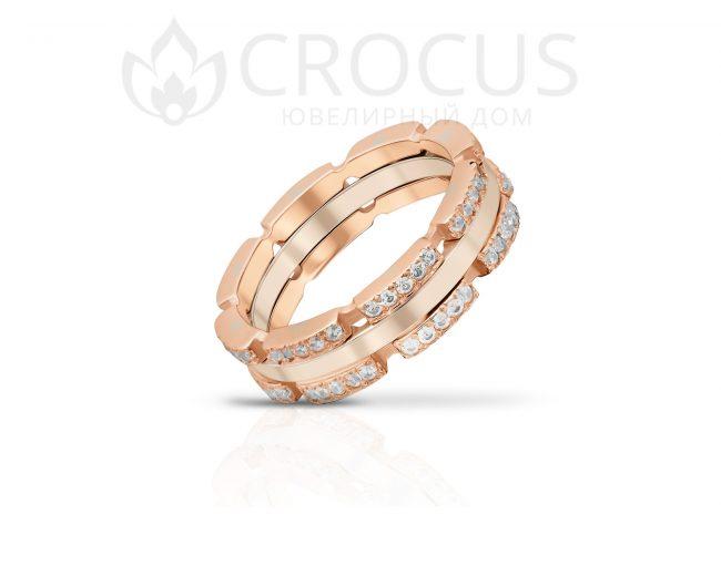Женский Золотой перстень CROCUS 1019-1