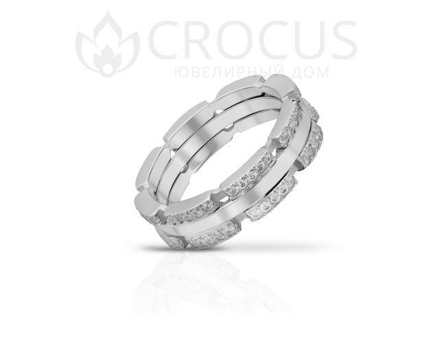Мужской Золотой перстень CROCUS 1019-1